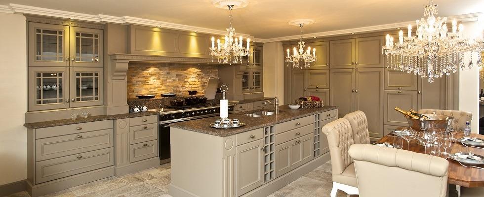 Klassieke keuken keukenarchitectuur - Eetkamer tegel ...