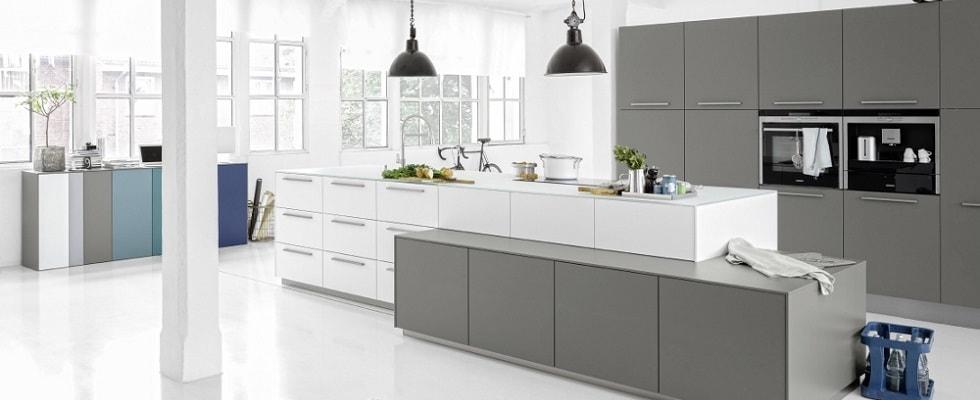 Moderne keuken wit grijs