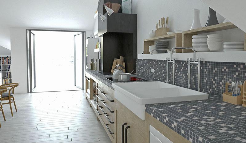 Mosaic Miro keuken tegels