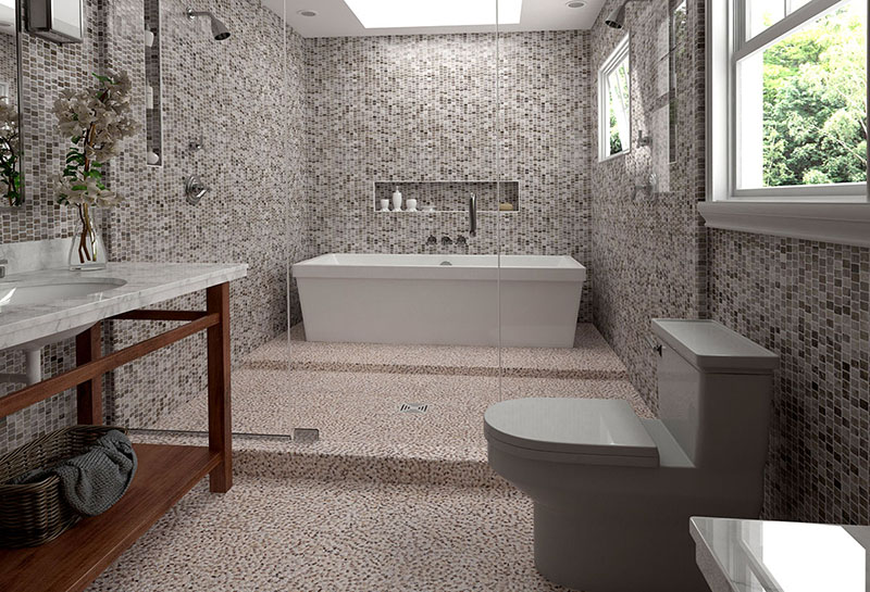Mosaic Miro badkamer tegels
