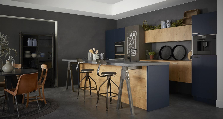keller keuken GL2000_Oud_Eiken_blauw